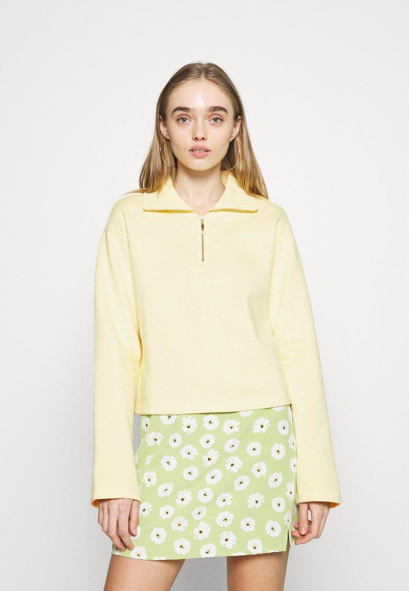 NA-KD - HALF ZIP UP - Sweatshirt - yellow