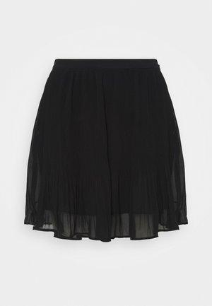 PLISSE - Mini skirt - black