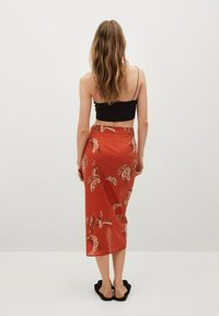 Mango - Wrap skirt - rojo - 2