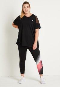 adidas Performance - T-shirts print - black/white - 2