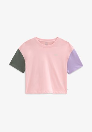 T-Shirt print - powder pink/thyme