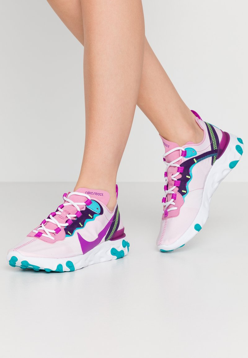 Nike Sportswear - REACT 55 - Zapatillas - flamingo/vivid purple/eggplant/oracle
