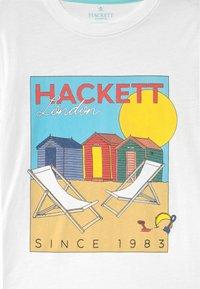 Hackett London - BEACH HUT  - Print T-shirt - white - 2