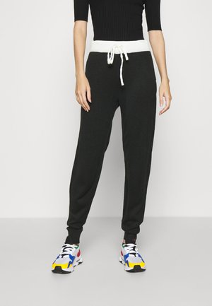 ONLAUBREE LOOSE PANTS  - Tracksuit bottoms - black/white