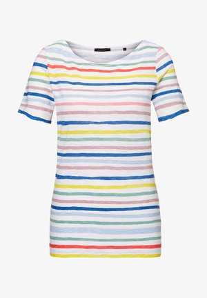 SHORT SLEEVE BOAT NECK  - Print T-shirt - multi/white linen