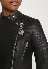 Diesel - L-IGE-NEW-A - Leather jacket - black - 5