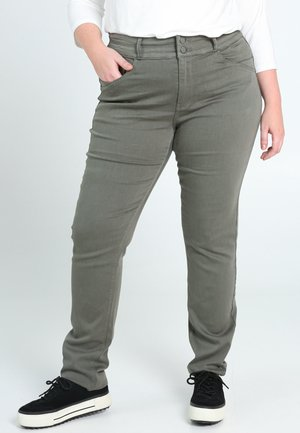 SLIM - Slim fit jeans - khaki