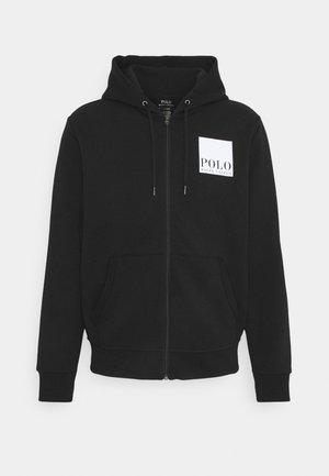 TECH - veste en sweat zippée - black