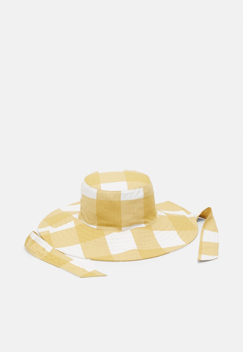 Pieces - PCLALA BUCKET HAT - Sombrero - almond buff/white