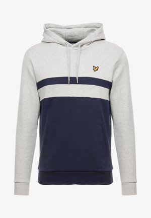 YOKE STRIPE HOODIE - Hoodie - light grey marl
