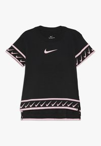 Nike Performance - TEE STUDIO - Print T-shirt - black/pink tint - 0