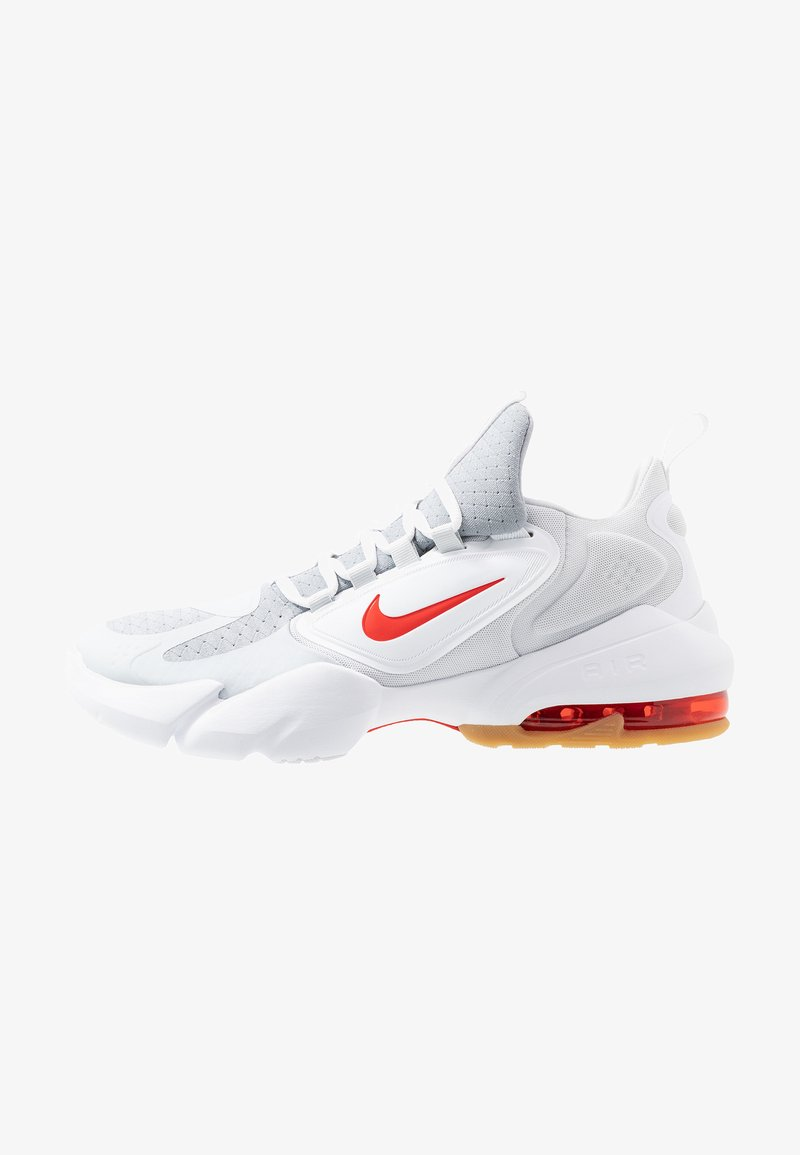 Nike Performance - AIR MAX ALPHA SAVAGE - Sports shoes - wolf grey/habanero red/pure platinum/white