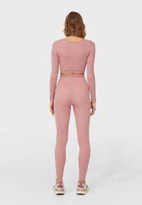 Stradivarius - Legging - pink - 2