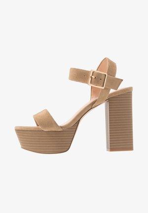 LEATHER - Sandaler med høye hæler - sand