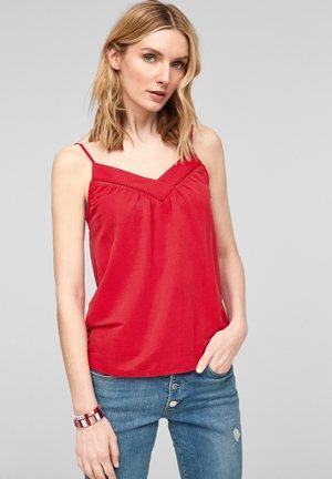 MIT BREITER BLENDE - Top - red