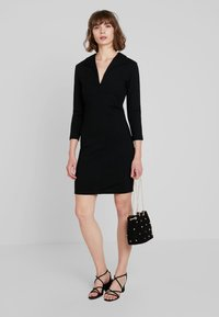 French Connection - RUTH LULA V NECK DRESS - Shift dress - black - 1