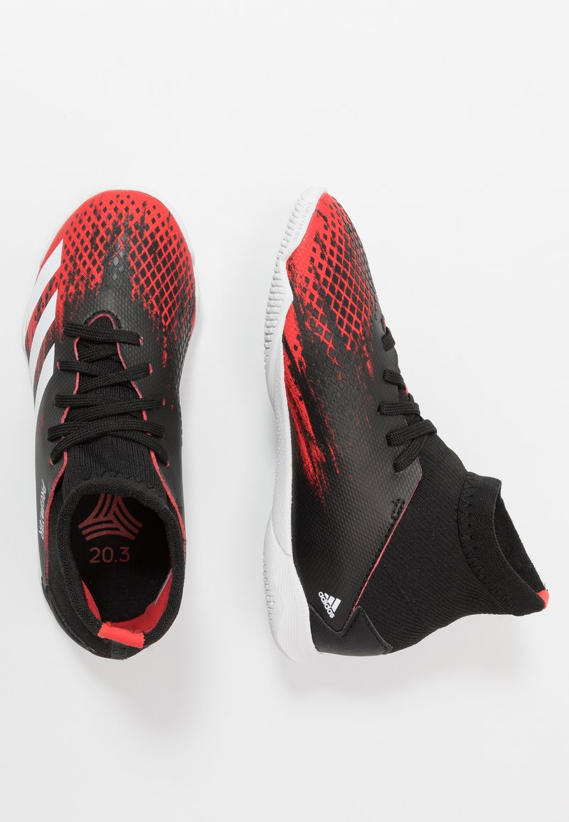 adidas Performance - PREDATOR 20.3 IN - Indoor football boots - core black/footwear white/active red