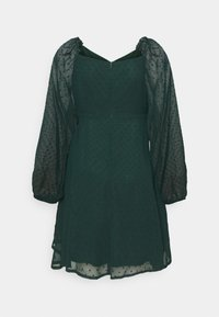 Missguided Tall - MILKMAID SKATER DRESS DOBBY - Day dress - dark green - 1