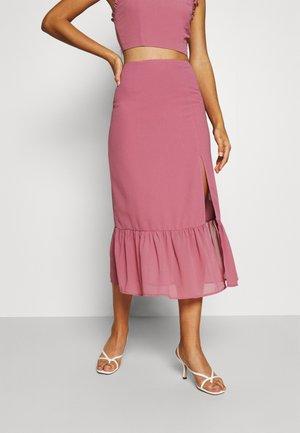 PALOMA TIERED MIDI SKIRT - A-line skirt - taupe