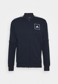3 STRIPES SPORTSWEAR TRACK  - Zip-up hoodie - dark blue