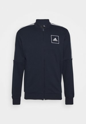 3 STRIPES SPORTSWEAR TRACK  - Zip-up hoodie - dark blue