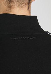 KARL LAGERFELD - ZIP JACKET - Zip-up sweatshirt - black - 6