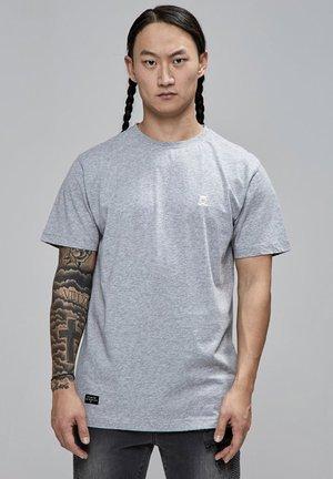 T-shirt basic - grey heather white