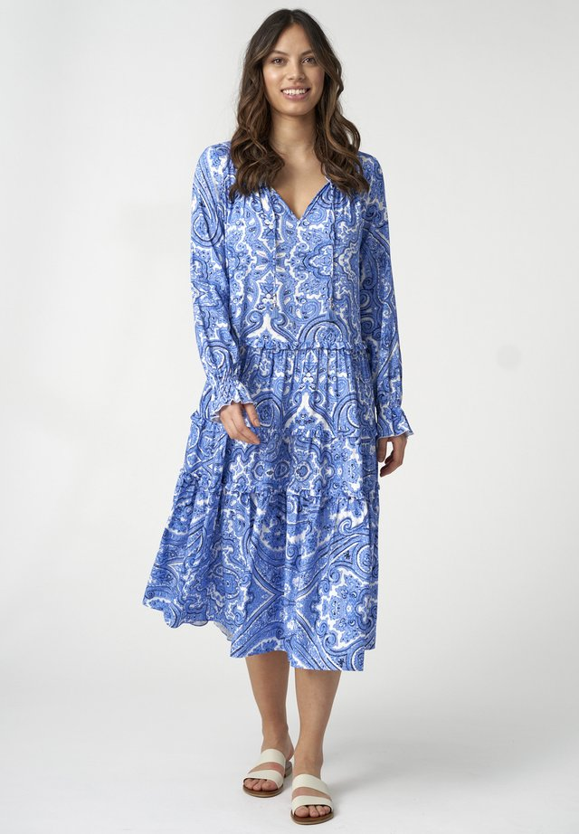VIOLA - Day dress - paisley blue