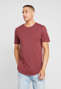 Only & Sons - ONSMATT LONGY 7 PACK - T-shirts basic - white/cabernet melange/forest night melange - 1