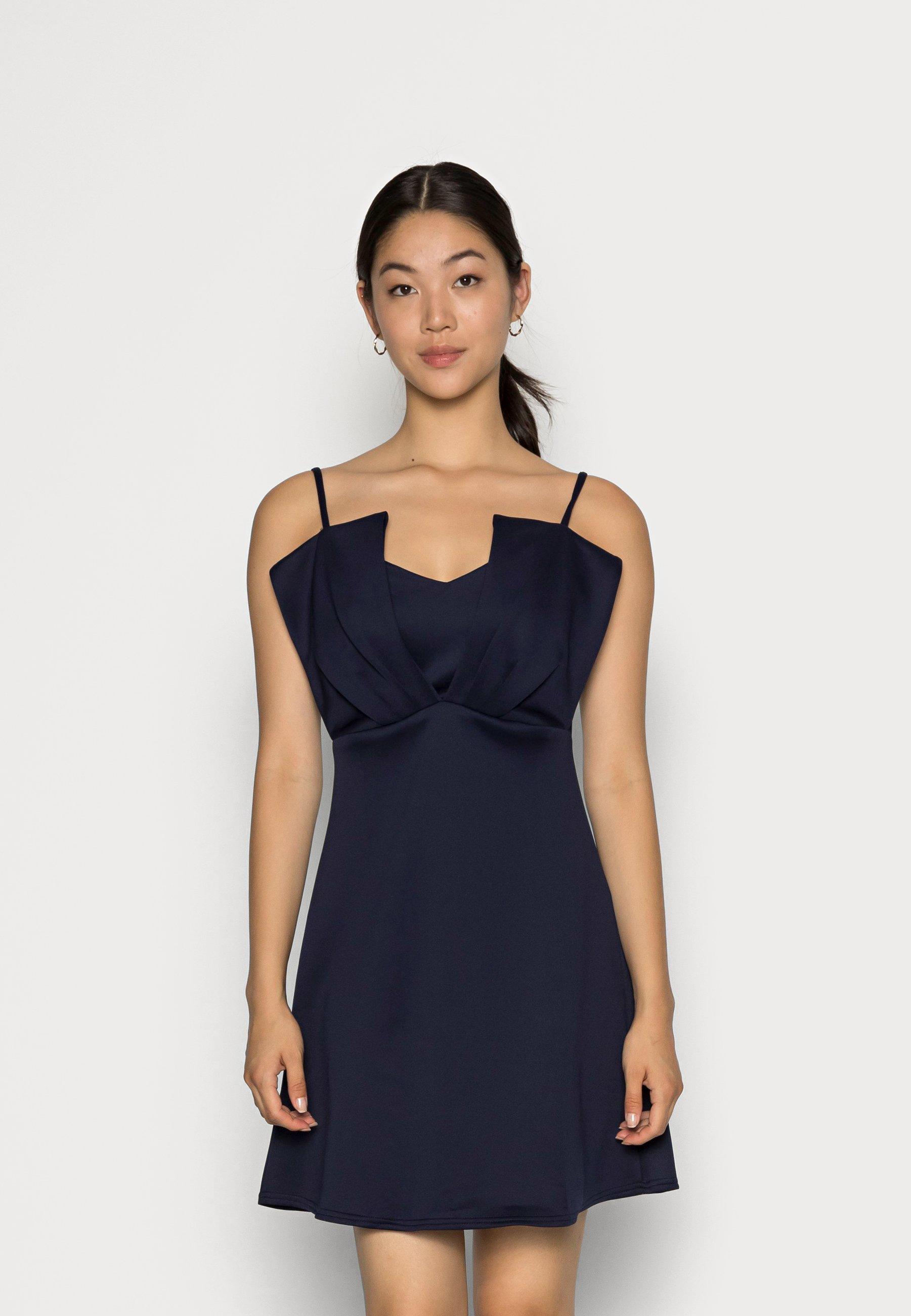 Women CLOSET RUFFLE BODICE DRESS - Jersey dress