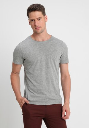 SLHLUKE O-NECK TEE - Basic T-shirt - light grey melange