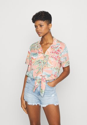 CORE TROPICAL - Button-down blouse - coral