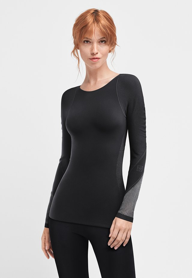T-shirt à manches longues - black/ash