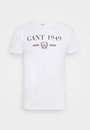 1949 CREST  - T-shirt med print - white