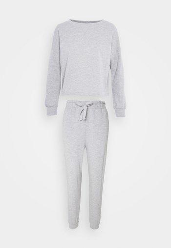 Basic lounge set - Pyjama set - mottled light grey