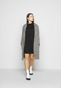 Simply Be - HIGH NECK SWING DRESS - Day dress - black - 1
