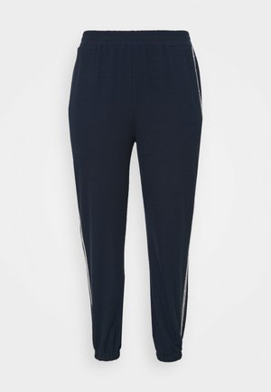 LOGO TAPE - Tracksuit bottoms - midnight blue