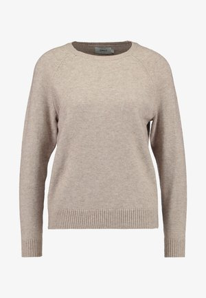 ONLLESLY KINGS - Strickpullover - beige melange