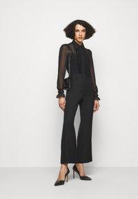 Victoria Beckham - FRILL DETAIL BLOUSE - Button-down blouse - black - 1
