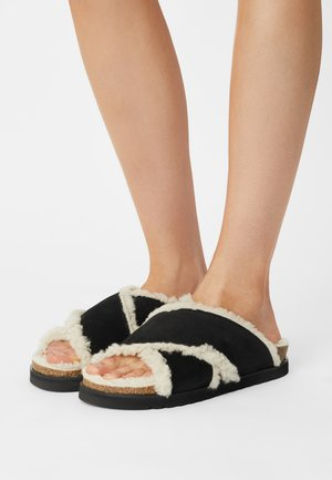 Slippers - anthrazit/nude