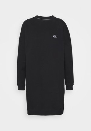 DRESS WITH CHEST LOGO - Korte jurk - black