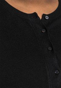 Marks & Spencer London - CREW CARDI PLAIN - Strikjakke /Cardigans - black - 4