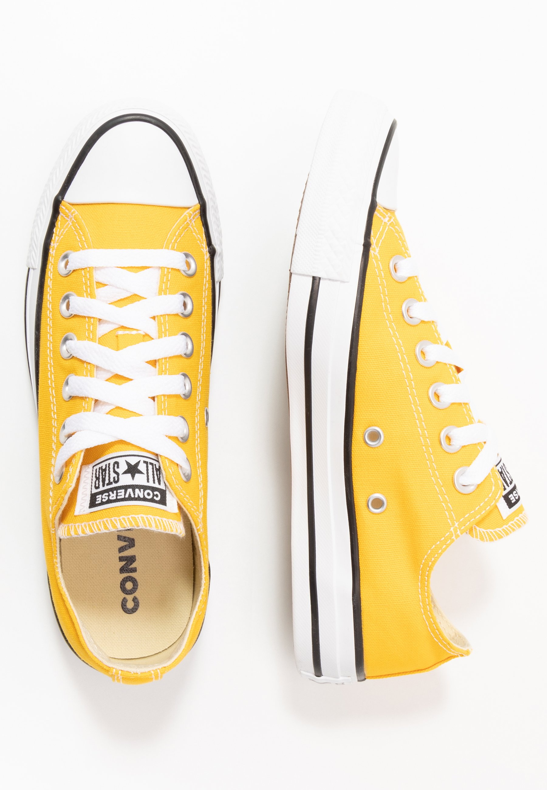 converse basse donna gialle