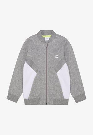 Sweat à capuche zippé - gris chine