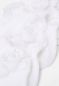 MP Denmark - BABY FILIPPA SOCK 2 PACK - Socks - white - 1