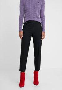 Lauren Ralph Lauren - SUITING PANT - Pantaloni - black - 0
