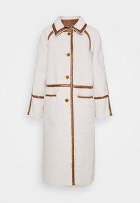 ELIZA CONTRAST BORG - Classic coat - cream