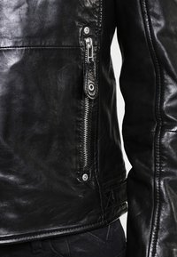 Gipsy - UNISEX MAVRIC  - Leather jacket - schwarz - 3