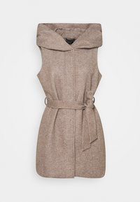 ONLY - ONLSEDONA LIGHT WAISTCOAT - Waistcoat - walnut/melange pumice stone - 0