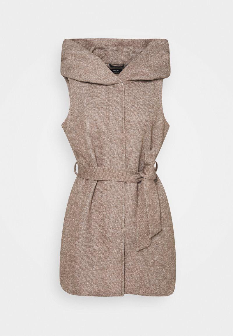 ONLY - ONLSEDONA LIGHT WAISTCOAT - Waistcoat - walnut/melange pumice stone